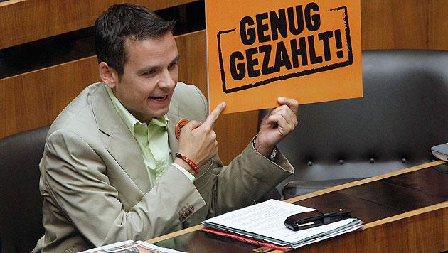 BZÖ-Obmann Grosz (Bild: APA/Georg Hochmuth)