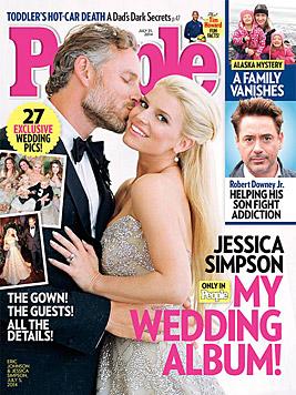 Mitte Juli heirateten auch Jessica Simpson und Eric Johnson. (Bild: People)