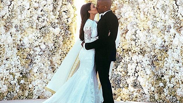 Kim Kardashian und Kanye West heirateten im Mai in Florenz. (Bild: instagram.com/kimkardashian)