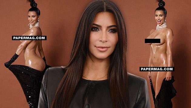 "Kim Kardashians Nacktfotos fürs ""Paper""-Magazin (Bild: instagram.com/papermagazine, Jordan Strauss/Invision/AP)"