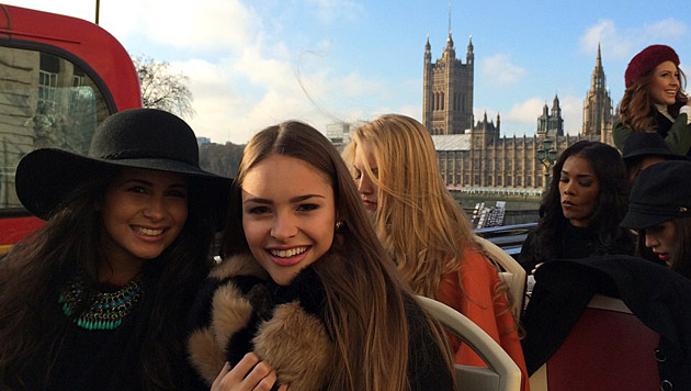 Julia Furdea beim Sightseeing in London (Bild: Julia Furdea)