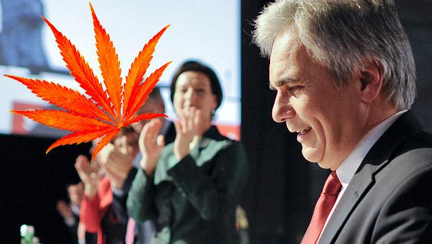 """Die SPÖ will Cannabis """"entkriminalisieren"""" (Bild: APA/HERBERT NEUBAUER, thinkstockphotos.de, krone.at-Grafik)"""