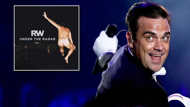 Auf dem Cover seines neuen Albums zeigt Robbie Williams der Welt seinen nackten Hintern. (Bild: APA/EPA/Goulao, robbiewilliams.com)