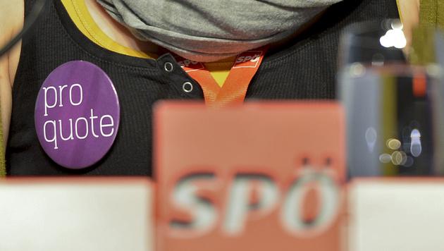 SPÖ-Parteitag: Neue Frauenquote beschlossen (Bild: APA/HERBERT NEUBAUER)