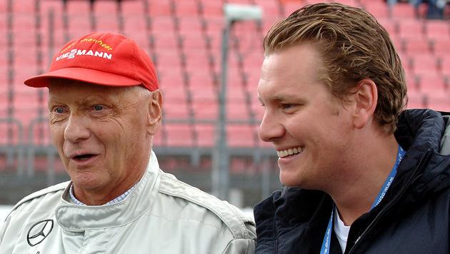 Niki Lauda mit Sohn Lukas (Bild: GEPA pictures/Andreas Tröster)