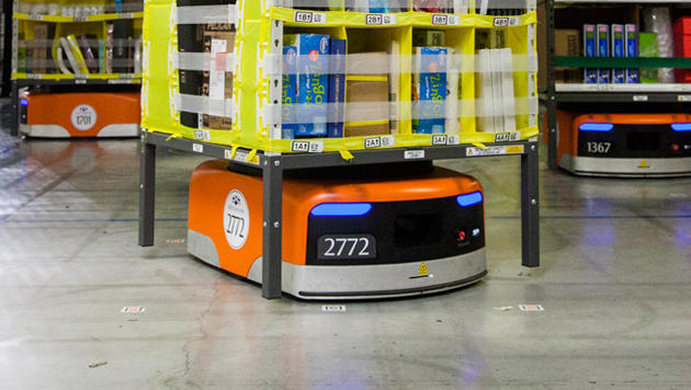 Amazon schickt Roboter-Armee in Logistikzentren (Bild: Amazon)