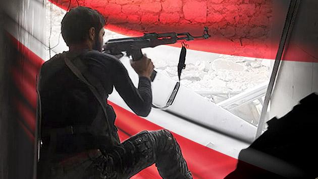 """Dschihad: Österreich als """"Hinterland und Sumpf"""" (Bild: AP, thinkstockphotos.de, krone.at-Grafik)"""