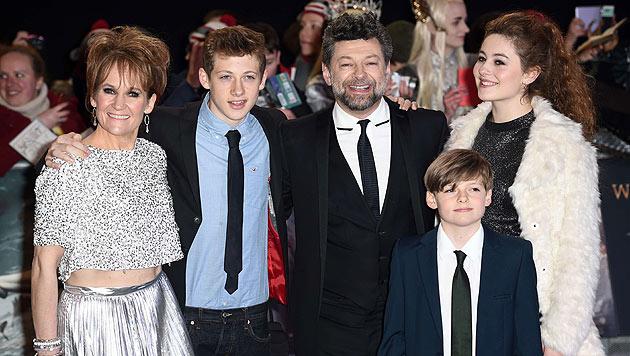 Andy Serkis (Gollum) mit seiner Familie (Bild: AFP)