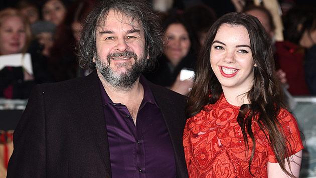 Regisseur Peter Jackson mit seiner Tochter Katie (Bild: AFP)