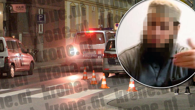 """Der Hauptverdächtige (kl. Bild) war in Wien gefasst worden. (Bild: Christian Jauschowetz, """"Krone"""")"""