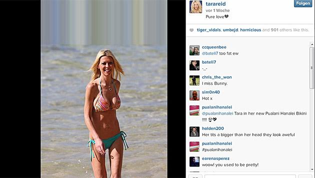 Tara Reid ist erschreckend dürr. (Bild: instagram.com/tarareid)