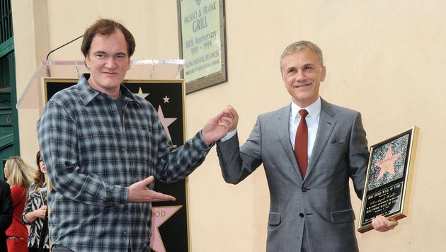 Christoph Waltz und Quentin Tarantino (Bild: AFP)