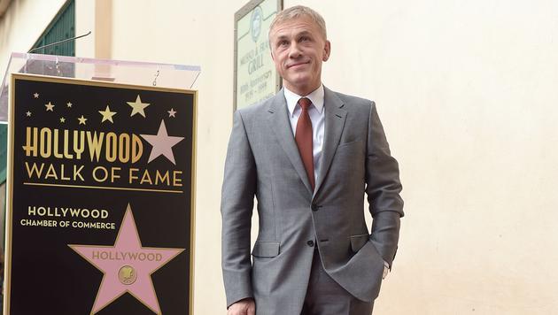 Christoph Waltz am Walk of Fame (Bild: AFP)