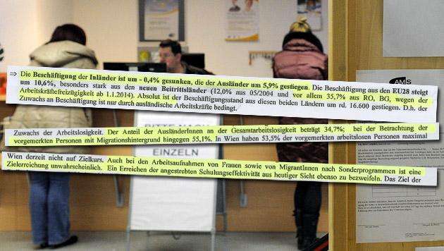 Die ganze Wahrheit über Wiens AMS-Zahlen (Bild: APA/HERBERT PFARRHOFER, Kronen Zeitung)