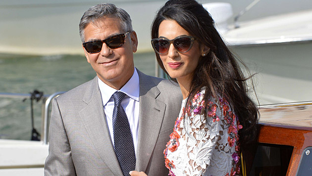 Die Stimmung zwischen Jolie und George Clooneys Ehefrau Amal soll auch angespannt sein. (Bild: AFP)