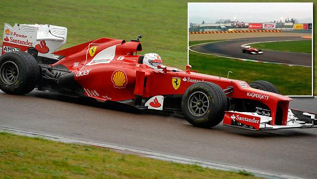 """Erste Ferrari-Runden für Vettel """"etwas Magisches"""" (Bild: AP, YouTube.com)"""