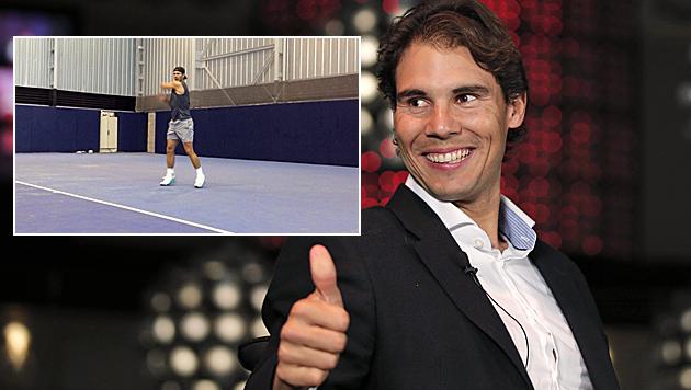 Nadal trainiert nach Blinddarm-OP wieder (Bild: AP/Facebook)