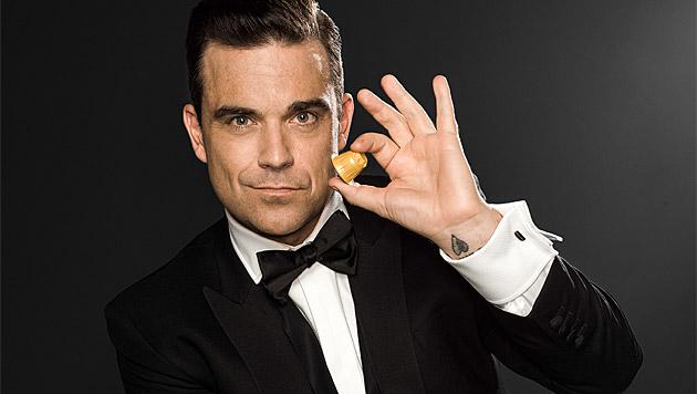 Robbie Williams macht jetzt Werbung für Kaffee. (Bild: Café Royal)