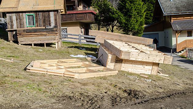 Schon im Herbst begannen die Aufbauarbeiten in Obertilliach. (Bild: Philipp Brunner)
