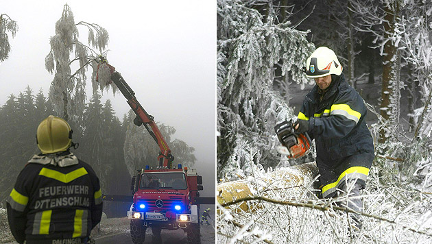 """""""Das Eis wird nur langsam schmelzen"""" (Bild: APA/NÖ LFKDO/MATTHIAS FISCHER)"""