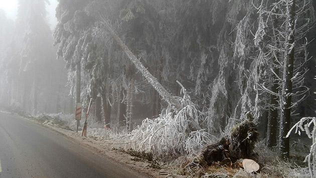 """Eisregen-Chaos: Lage entspannt sich langsam (Bild: """"Krone""""-Leserreporter)"""