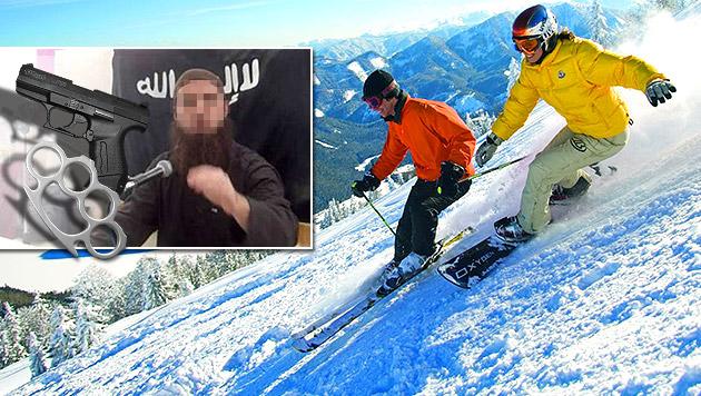 Racheaktion: Islamisten drohten Skihotel mit Bombe (Bild: Andi Schiel, Polizei, NÖ Werbung, krone.at-Grafik)