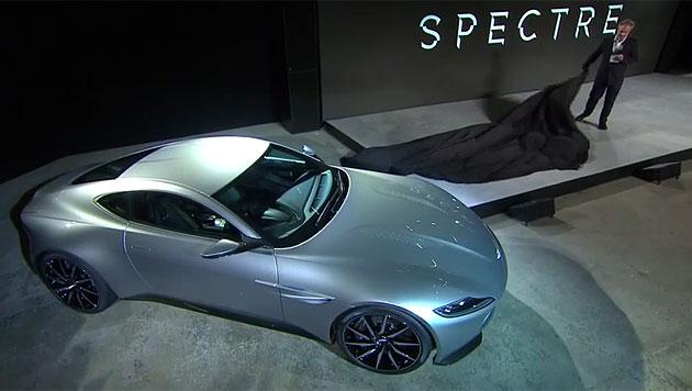 """Im Aston Martin DB10 wird Craig durch den """"Winter-Bond"""" rasen. (Bild: www.007.com)"""