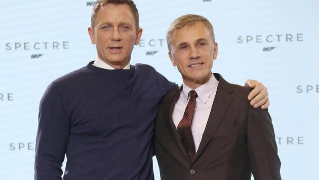 James Bond Daniel Craig und sein Gegenspieler Christoph Waltz (Bild: AP)