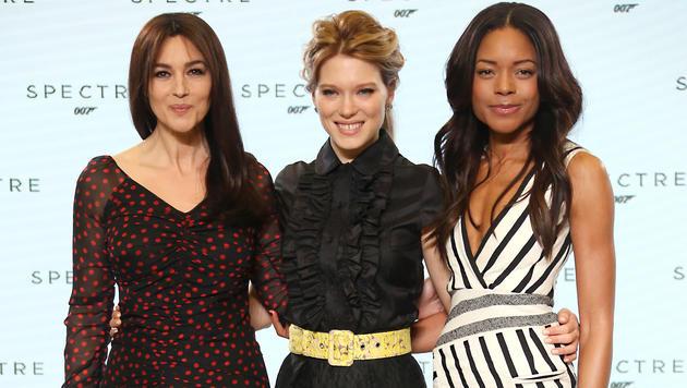 Monica Bellucci, Lea Seydoux und Naomie Harris (Bild: AP)
