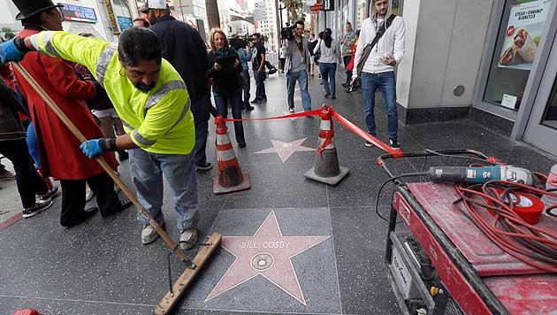 Hollywood-Stern von Bill Cosby beschmiert (Bild: AP)