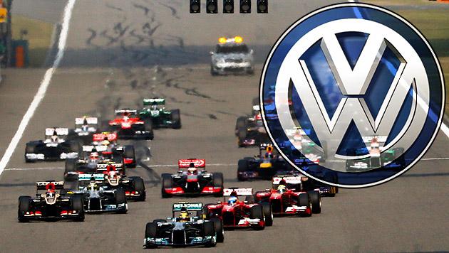 VW plant Einstieg in die Formel 1 (Bild: APA/EPA/DIEGO AZUBEL, krone.at-Grafik)