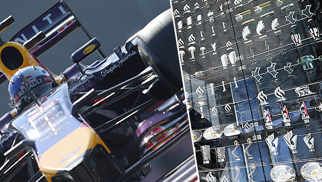 Einbrecher klauen Red Bull Racing 64 Pokale! (Bild: APA/EPA/ALI HAIDER, Red Bull Racing)