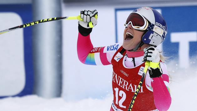 Lindsey Vonn gewinnt Abfahrt in Lake Louise (Bild: AP/Jeff McIntosh)