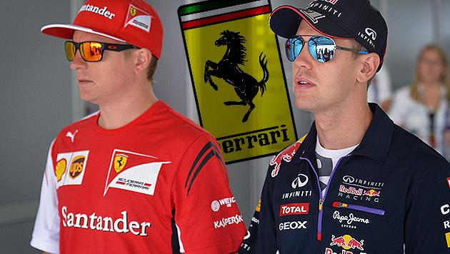Ferrari: Räikkönen freut sich auf Vettel (Bild: APA/EPA/DAVID EBENER, krone.at-Grafik)