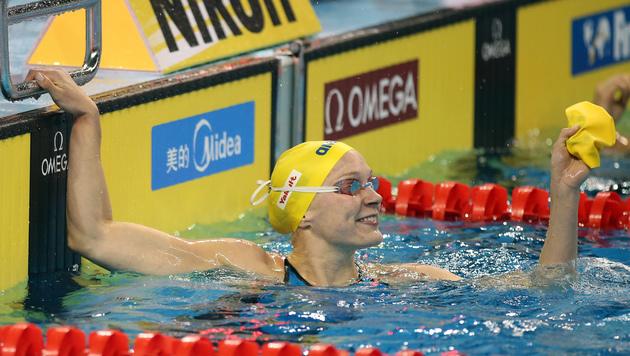 Sarah Sjöström (Bild: AP/Osama Faisal)