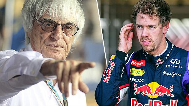 "Ecclestone rügt Vettel: ""Einstellung enttäuschend"" (Bild: APA/EPA/DIEGO AZUBEL, APA/EPA/SRDJAN SUKI)"