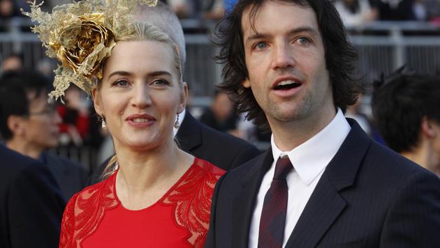Kate Winslet vermied jedes Aufsehen um ihre dritte Hochzeit im Dezember 2012 mit Ned Rocknroll. (Bild: AP)