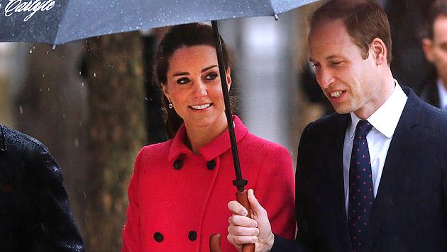 Kate und William besuchten 9/11-Denkmal in NY (Bild: AP)