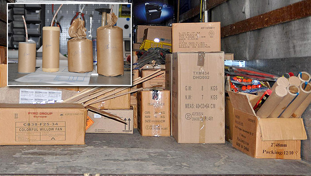 Pyrotechniker fordert beschlagnahmte Böller zurück (Bild: Polizei Eferding)