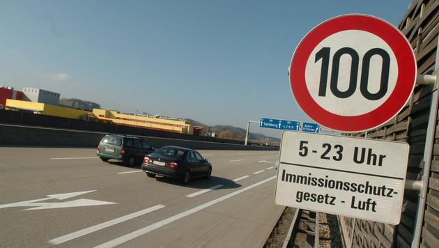 In Oberösterreich gilt auf einem Teil der Westautobahn (A1) Tempo 100. (Bild: Johannes Markovsky)