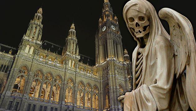 Wie Gevatter Tod dem Wiener Stadtbudget hilft (Bild: Krone, thinkstockphotos.de, krone.at-Grafik)
