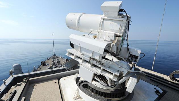 Diese US-Laserkanone fegt Drohnen vom Himmel (Bild: navy.mil)