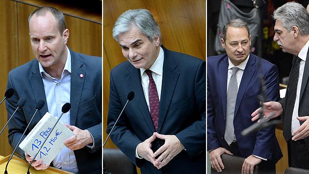 Im Nationalrat wurde das Thema Hypo heiß diskutiert. (Bild: APA/ROLAND SCHLAGER)
