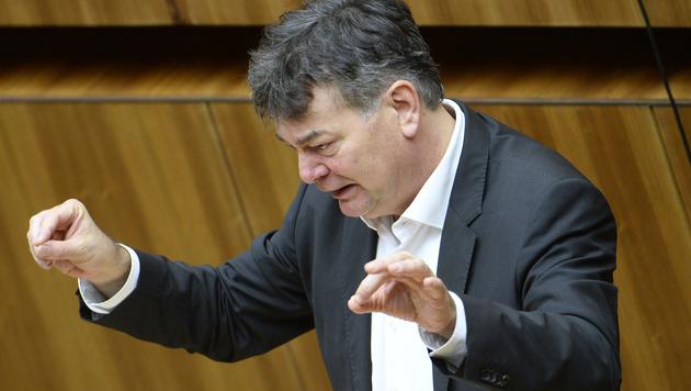 Grüne-Abgeordneter Werner Kogler während der Debatte zum Abgabenänderungsgesetz. (Bild: APA/ROBERT JAEGER)