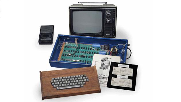 """Der bei Christie""""s versteigerte Apple-1 (Bild: Christie""""s New York)"""