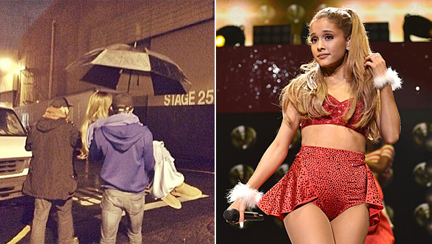 Ariana Grande lässt sich gerne mal tragen. (Bild: instagram.com/arianagrande, John Shearer/Invision/AP)