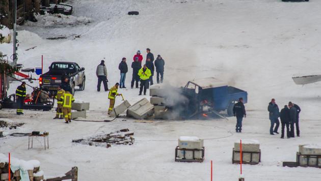 In Obertilliach werden Sprengungen für die Bond-Dreharbeiten geübt. (Bild: Brunner Philipp)