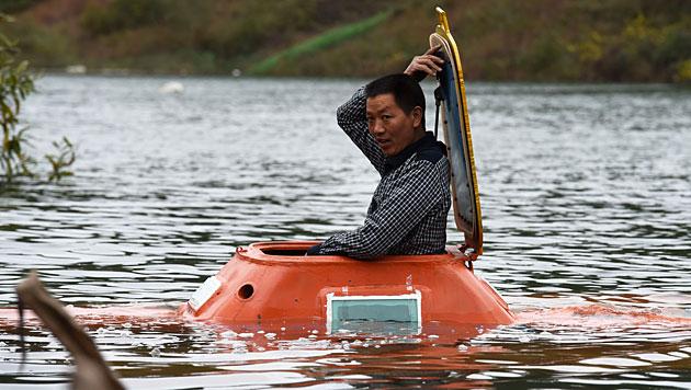 Tan Yong kurz vor dem Tauchgang (Bild: AFP)