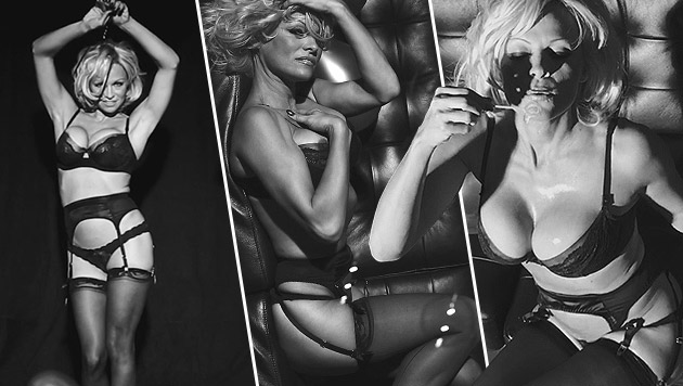 "Pamela Anderson im ""Love""-Magazin-Adventkalender (Bild: Love/Doug Inglish)"