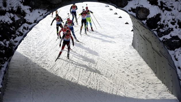 Biathlon-Staffel verpasst Podest um 2,6 Sekunden